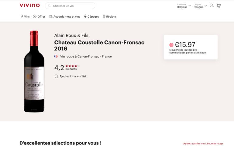 Chateau Coustolle Canon-Fronsac 2016 – VIVINO